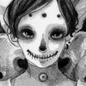 Boneface, personnage d'Insane Android (http://www.toxicparadise.tk/).  Ah les ombres! J'aurais ptet du travailler un peu plus dessus.