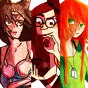A la demande générale (ou pas xD) voici la première fournée de commandes sur le forum. La première est la tsumie de Jumy, la 2eme les personnages de Getsu, Takiane et Antios, et la 3eme le personnage de Chitsu, Seiren.